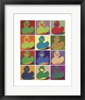 Framed Pop Art Ducky