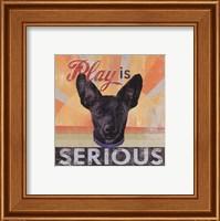 Framed Serious