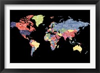 Framed Type Map - World
