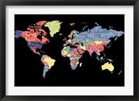 Framed Type Map - World