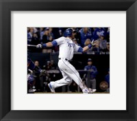 Framed Alex Gordon Home Run Game 1 of the 2015 World Series