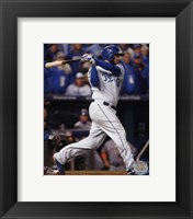 Framed Mike Moustakas RBI Single Game 2 of the 2015 World Series