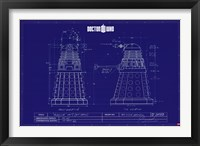 Framed Doctor Who - Dalek Blue Print