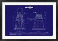 Framed Doctor Who - Dalek Blue Print