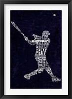 Framed Type Baseball Blue