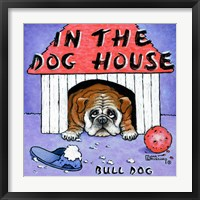 In the Dog House Framed Print