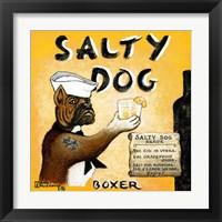 Framed Salty Dog