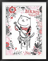 Cats of Paris - Musician Framed Print