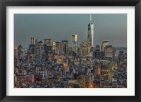 Framed Downtown Skyline 12