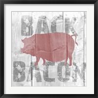Back Bacon Framed Print