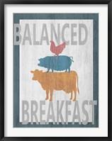 Framed Balanced Breakfast One