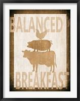 Balanced Breakfast Two Framed Print