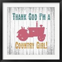 Country Girl Framed Print