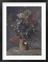Framed Flowers in a Vase, c. 1866