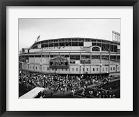 Framed Wrigley Field, Chicago, Cook County, Illinois