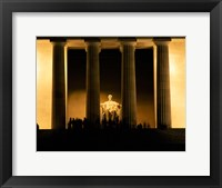 Framed Lincoln Memorial, Washington DC (detail)