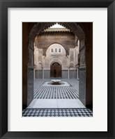 Framed Al-Attarine Madrasa built by Abu al-Hasan Ali ibn Othman, Fes, Morocco