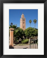 Framed Koutoubia Minaret built by Yacoub el Mansour, Marrakesh, Morocco