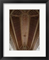 Framed Highly Decorated Roof of Palais Bahia, Marrakesh, Morocco