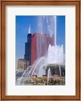 Framed Buckingham Fountain, Chicago, Illinois