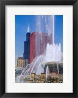 Framed Buckingham Fountain, Chicago, Illinois