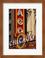 Framed Chicago Theater Sign, Illinois
