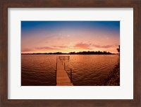 Framed Lake Minnetonka Pier, Minnesota