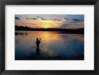 Framed Fly Fisherman, Mauthe Lake, Kettle Moraine State Forest
