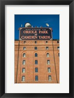 Framed Oriole Park at Camden Yards, Baltimore, Maryland