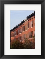 Framed Row Houses in the City, Bolton Hill, Baltimore, Maryland