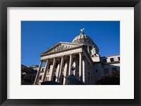 Framed Mississippi State Capitol, Jackson, Hinds County, Mississippi