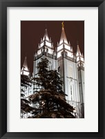 Framed Mormon Temple, Salt Lake City, Utah