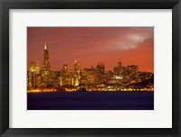Framed San Francisco Financial District at Dusk, San Francisco, California