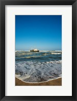 Framed Shipwreck on the beach, Skeleton Coast, Namibia