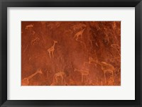 Framed Cave Paintings by Bushmen, Damaraland, Namibia