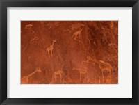 Framed Cave Paintings by Bushmen, Damaraland, Namibia