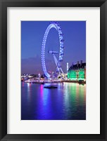 Framed Millennium Wheel, London County Hall, Thames River, London, England