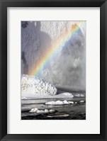 Framed Rainbow over Skogarfoss Waterfall Iceland