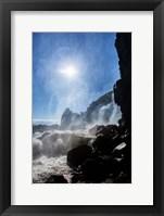 Framed Oxararfoss Waterfalls, Thingvellir National Park, Iceland