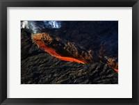 Framed Volcano Eruption, Bardarbunga Volcano, Iceland
