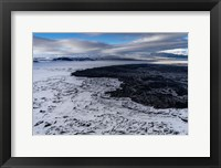 Framed Lava and Snow at the Holuhraun Fissure, Bardarbunga Volcano, Iceland.