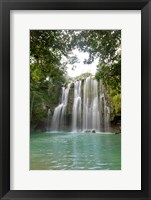Framed Llanos De Cortez Waterfall, Costa Rica