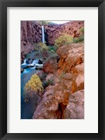 Framed Havasu Falls, Grand Canyon National Park, Arizona