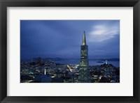 Framed Transamerica Pyramid, Coit Tower, San Francisco, California
