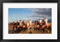 Framed Berber Horsemen, Dades Valley, Morocco