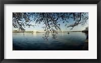 Framed Jefferson Memorial, Potomac River, Washington DC