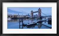Framed St. Katharine Pier and Tower Bridge, Thames River, London, England