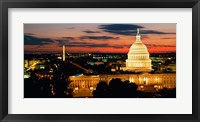Framed City at Dusk, Washington DC