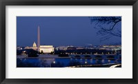 Framed Washington Monument, Lincoln Memorial, Capitol Building, Washington DC