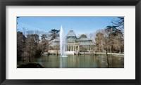 Framed Palacio De Cristal, Madrid, Spain